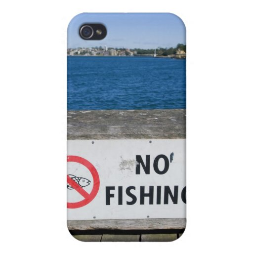 No Fishing Iphone Case Case For iPhone 4