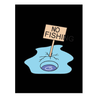 No Fishing Post Cards