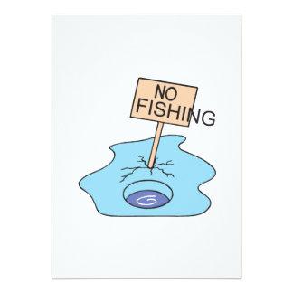 No Fishing Sign 5x7 Paper Invitation Card