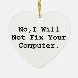 No Fix Computer Ceramic Ornament