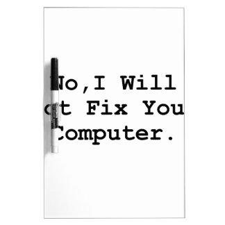 No Fix Computer Dry-Erase Board