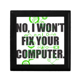 No Fixing Computers Gift Boxes