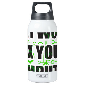 No Fixing Computers Insulated Water Bottle