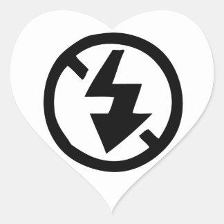No Flash Photography Heart Sticker