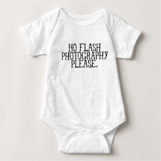 No flash photography please baby bodysuit