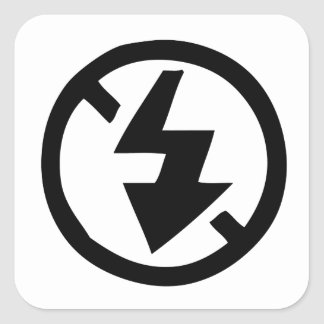 No Flash Photography Square Sticker