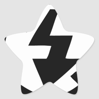 No Flash Photography Star Sticker