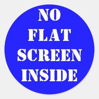 No Flat Screen Inside Classic Round Sticker
