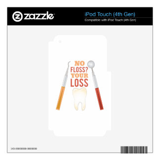 No Floss iPod Touch 4G Decals