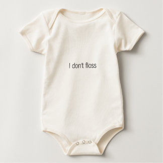 No floss mameluco de bebé