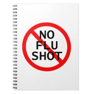 No Flu Shot Note Book