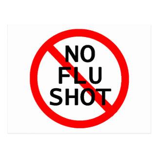 No Flu Shot Postcard