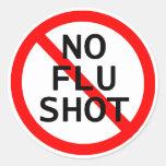 No Flu Shot Sticker