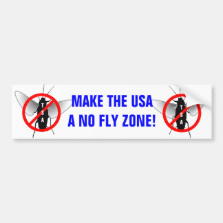No Fly Zone Bumper Sticker
