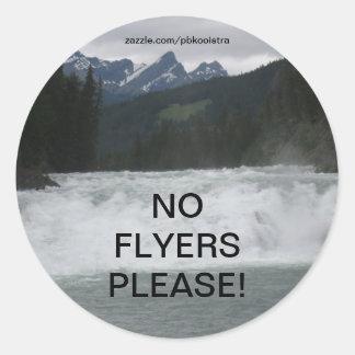 No Flyers Please Water Rapids Sticker