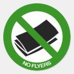 No Flyers Sign Round Sticker