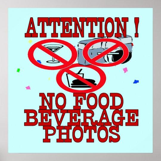 No Food Beverage Photos Sign