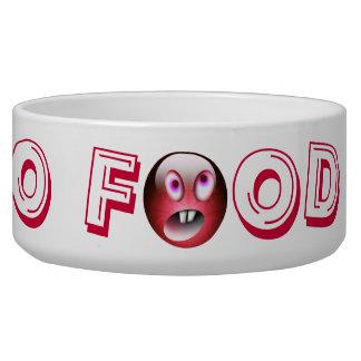 NO FOOD !! red Your Pet Bowl Dog Bowls