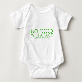 No food with a face baby bodysuit