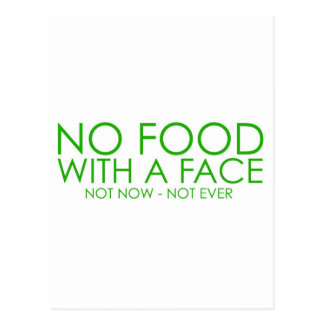 No food with a face post card