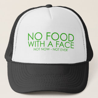 No food with a face trucker hat