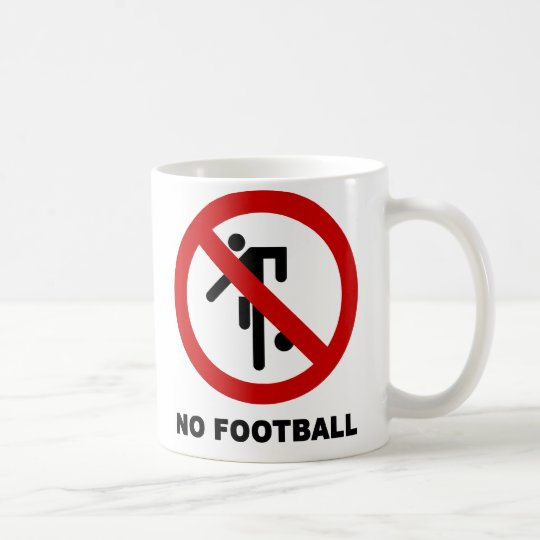 NO Football [Soccer] ⚠ Thai Park Sign ⚠ Coffee Mug