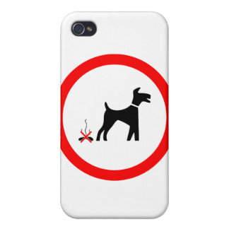 no_fouling_Vector_Clipart dog poo Cases For iPhone 4