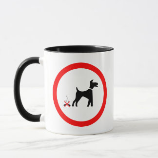 no_fouling_Vector_Clipart dog poo Mug
