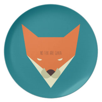 No Fox are Given Plate