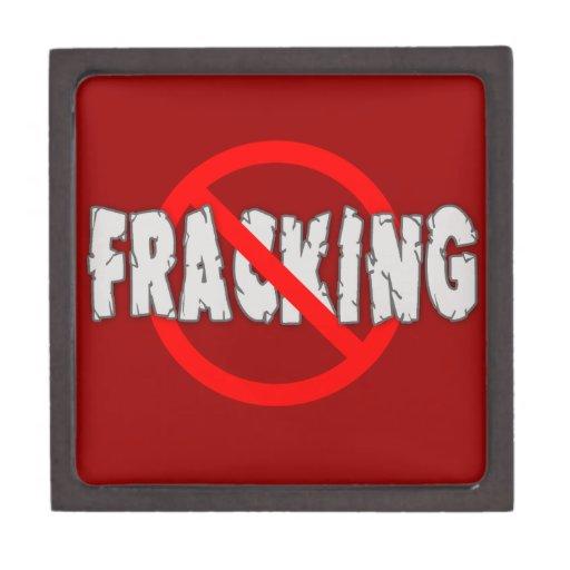 NO FRACKING! End Fracking Premium Keepsake Box