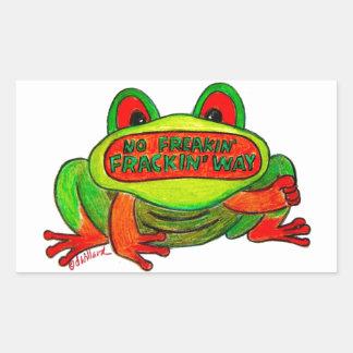 No Fracking Frog Sticker