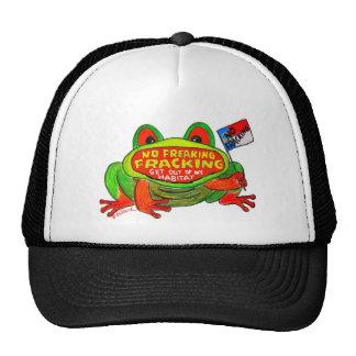 No Fracking in North Carolina Frog Cap Trucker Hat
