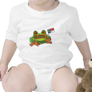No Fracking in North Carolina Frog Baby Bodysuits