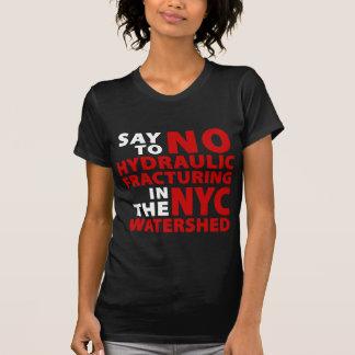 No Fracking NYC Watershed Women's Dark T Tshirts