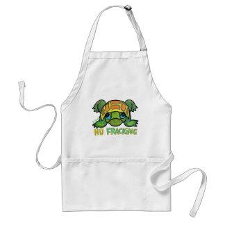 No Fracking Turtle Adult Apron