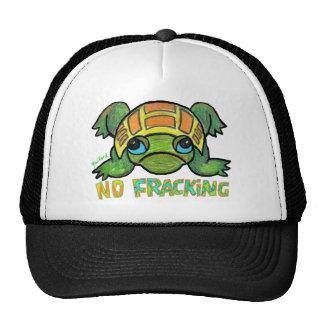 NO FRACKING TURTLE Baseball Cap