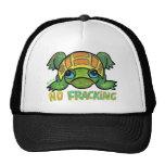 NO FRACKING TURTLE Baseball Cap Trucker Hat
