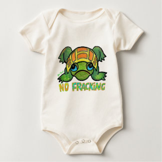 NO FRACKING TURTLE Infant One-piece Baby Bodysuit
