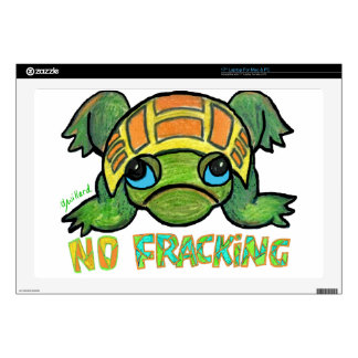 """No Fracking Turtle Decal For 17"""" Laptop"""