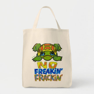 No Fracking Turtle Tote Bag