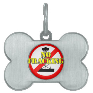 No Fracking UK 2 Pet ID Tag