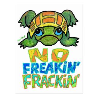 No Freakin Frackin Turtle Postcard