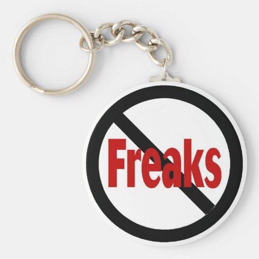 No Freaks Basic Round Button Keychain