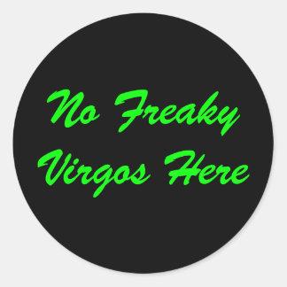 No Freaky Virgos Here Stickers