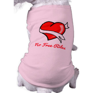 No Free Rides Tattoo Red Heart Banner Shirt