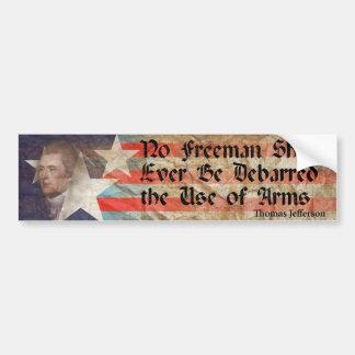No Freeman.... Bumper Sticker
