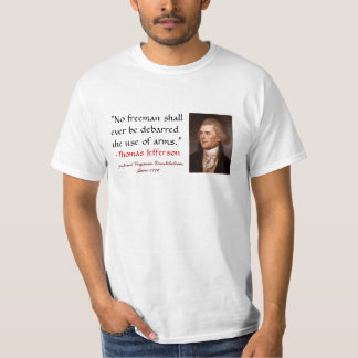 """""""No freeman shall ever be debarred the use of a... T-shirt"""