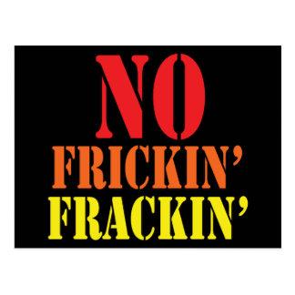 No Frickin' Frackin' Postcard