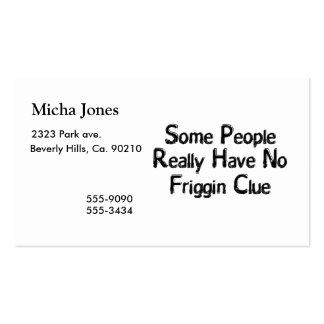 No Friggin Clue Business Card