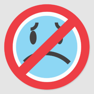 No Frowns Sticker
